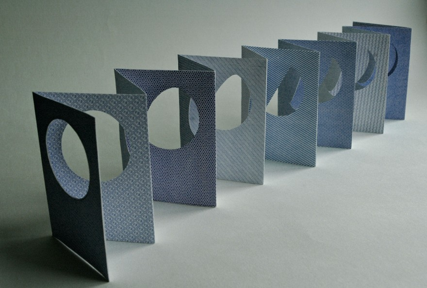 Blue Moon blue papercut book